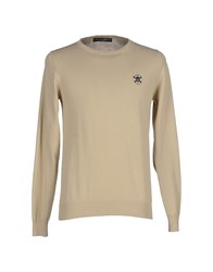 Frankie Morello Knitwear Jumpers Men Beige