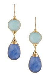 Janna Conner Aurelie Apatite And Dark Blue Quartz Earrings
