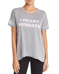 Pj Salvage I Heart Sundays Tee Gray