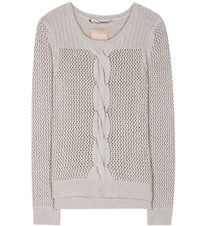 81 Hours Rita Wool And Cashmere Blend Sweater Grey
