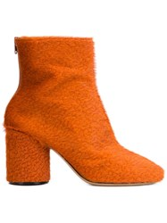Maison Martin Margiela Maison Margiela Rear Zip Mid Calf Boots Yellow And Orange