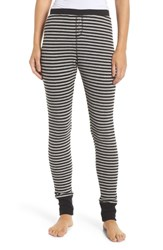Make Model Thermal Leggings Black Even Stripe