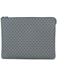 Emporio Armani Logo Print Clutch Bag Grey