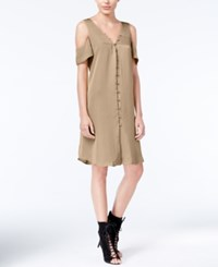 Rachel Roy Cold Shoulder Shift Dress Only At Macy's Nude