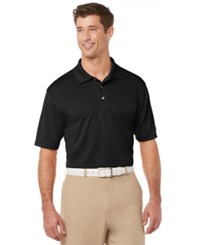 Pga Tour Men's Big And Tall Airflux Solid Golf Polo Caviar