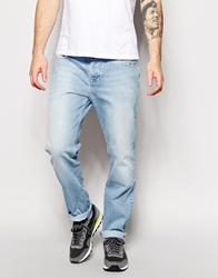 Asos Straight Jeans In Vintage Bleach Blue