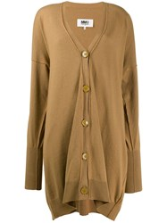 Maison Martin Margiela Mm6 Long Cardigan Brown