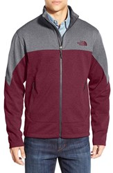 The North Face Men's 'Canyonwall' Fleece Jacket Sequoia Red Heather Heather