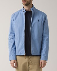 Polo Ralph Lauren Sky Blue Semi Cotton Lined Nylon Button Down Collar Jacket