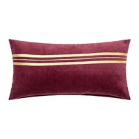Bloomingville Red Gold Stripe Cushion 60X30cm