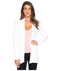 Lilla P Long Sleeve Open Cardigan White Women's Sweater