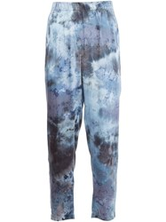 Raquel Allegra Tie Dye Relaxed Pants Blue