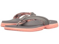 New Balance Jojo Thong Grey Pink Women's Sandals Gray