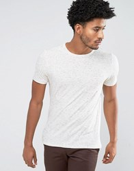 Mango Man T Shirt With Speckles In Off White Off White