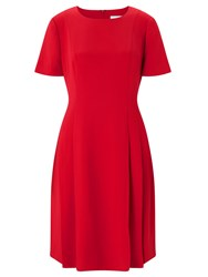 John Lewis Fit And Flare Dress Red