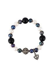 Loree Rodkin Diamond Charm And Pearl Bead Bracelet Multicolour