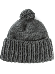 Liska Bobble Hat Grey