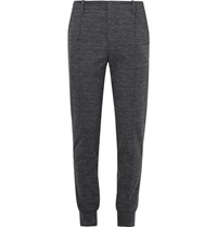 Wooyoungmi Slim Fit Tapered Jersey Trousers Dark Gray