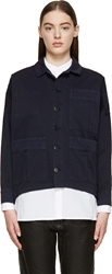 Band Of Outsiders Navy Dolman Sleeve Barn Jacket