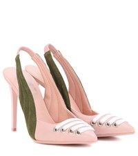 Fenty By Rihanna Leather And Suede Slingback Pumps Pink
