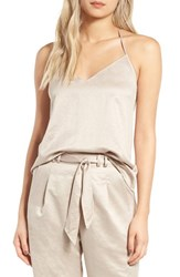 Leith Women's Satin T Back Camisole