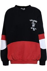 Each X Other Color Block French Cotton Terry Sweatshirt Black