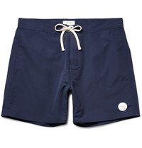 Saturdays Surf Nyc Colin Mid Length Swim Shorts Blue