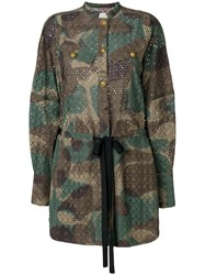 Zadig And Voltaire Rafal Camouflage Dress Green