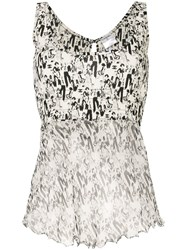 Chanel Vintage Cc Mademoiselle Tops White