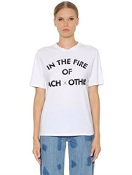 Each X Other In The Fire Cotton Jersey T Shirt