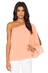 Blaque Label One Shoulder Winged Top Peach