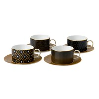 Wedgwood Arris Teacups And Saucers Set Of 4