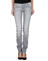 Ring Denim Denim Trousers Women Grey