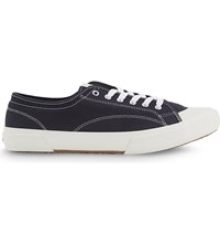 Sandro Canvas Trainers Navy Blue