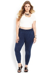 Forever 21 Good Vibes Harem Pants Navy White