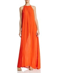 Echo Solid Maxi Dress Swim Cover Up Rouge