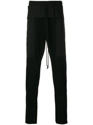 Lost And Found Rooms Vintage Straight Leg Trousers Cotton Black