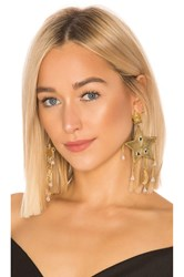 Mercedes Salazar Estrella Fugaz Blanca Earrings Metallic Gold