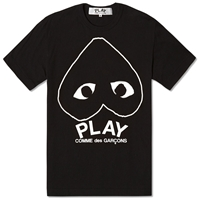 Comme Des Garcons Play Inverted Heart Logo Tee Black