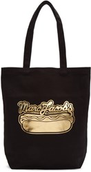 Marc Jacobs Black Hot Dog Logo Tote