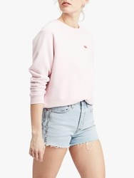 Levi's Relaxed Crew Neck Sweatshirt Pink Lady