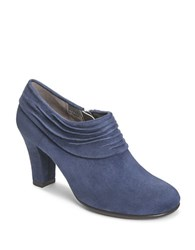Aerosoles Starring Role Suede Booties Dark Blue Fabric