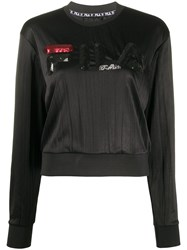 Fila Sequined Logo Sweatshirt Black
