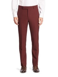 Paul Smith Wool Blend Dress Pants Burgundy