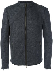 John Varvatos Double Face Zipped Jacket Grey