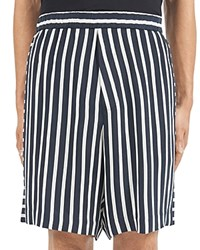 Mcq By Alexander Mcqueen Striped Relaxed Fit Shorts Striped Dark Black