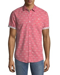 Report Collection Short Sleeve Oxford Shirt Coral