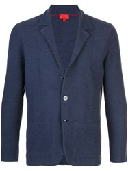 Isaia Single Breasted Knitted Blazer 60