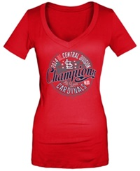 5Th And Ocean Women's St. Louis Cardinals 2014 Division Champ T Shirt Red
