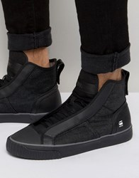 G Star Scuba Denim Trainers Black